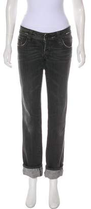 DSQUARED2 Distressed Low-Rise Straight Jeans