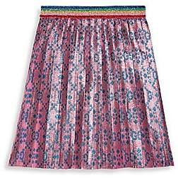 Gucci Little Girl's & Girl's GG Net Lurex Jacquard A-Line Skirt