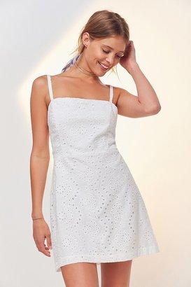 Kimchi Blue Square-Neck A-Line Eyelet Dress $69 thestylecure.com