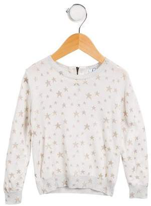 C de C Girls' Printed Long Sleeve Sweater