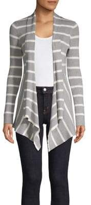 Context Striped Open-Front Cardigan