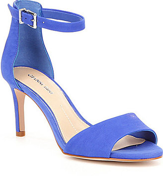 Gianni Bini Meria Banded Ankle Strap Leather Dress Sandals $69.99 thestylecure.com