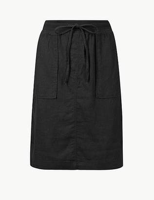 Marks and Spencer Linen Rich Pencil Skirt