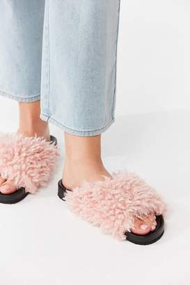 Urban Outfitters Faux Shearling Pool Slide