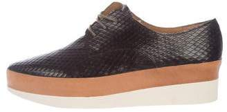 Coclico Embossed Flatform Oxfords