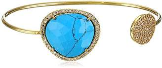 Tai Gold with Stone Cuff Bracelet