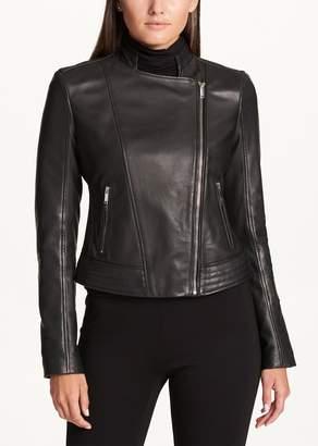 DKNY Asymmetrical Zip Front Moto Jacket