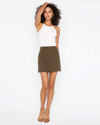 Express Mid Rise Supersoft Mini Skirt