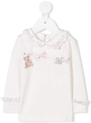Lapin House ruffle detail embellished blouse
