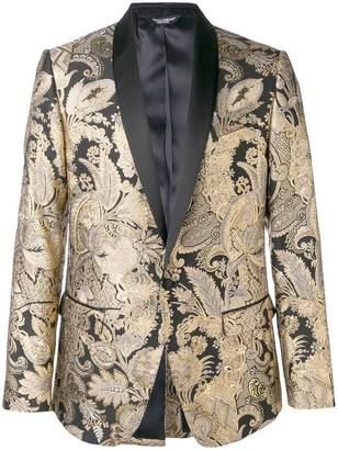 Dolce & Gabbana jacquard button blazer