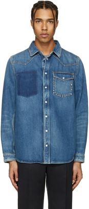 Valentino Blue Denim Rockstud Jacket $1,495 thestylecure.com