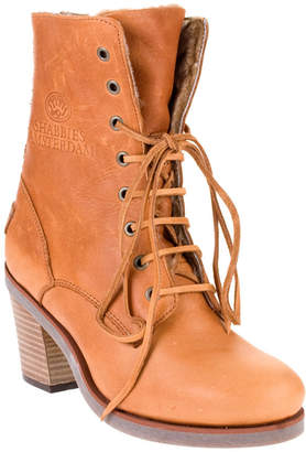 Shabbies Shearling lace up boot
