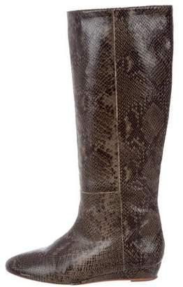 Loeffler Randall Embossed Wedge Boots