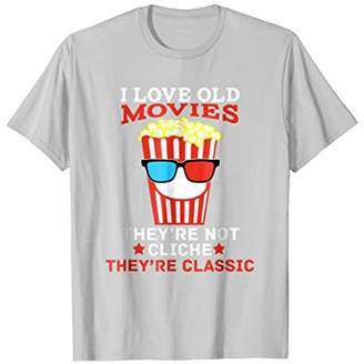 Vintage Old Classic Movie Lover Fan Funny Popcorn T-Shirt