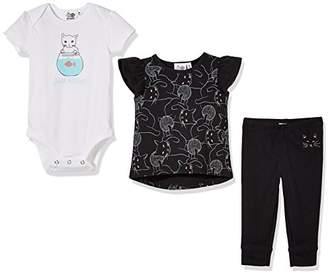 Silly Apples (054) Baby Girl 3 Piece Short-Sleeve T-Shirt