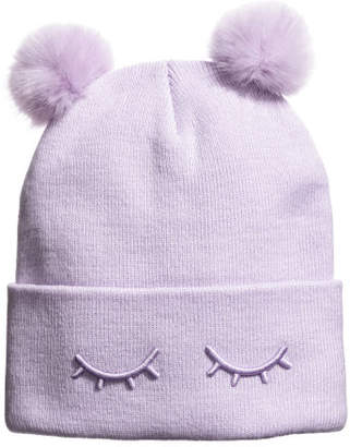 H&M Fine-knit hat - Purple