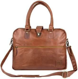 MAHI Leather - Leather Cornell Satchel Briefcase - Vintage Brown