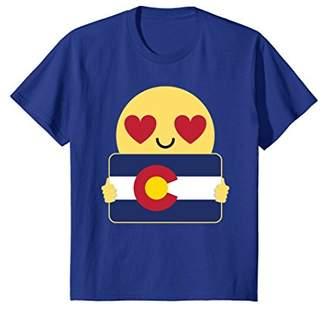 Colorado Flag Shirt Heart Eye T-Shirt Tee
