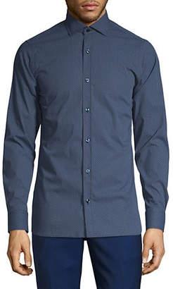Ermenegildo Zegna Geo-Print Button-Down Shirt