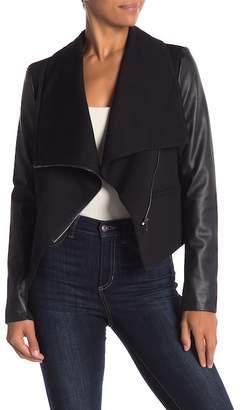 Bagatelle Faux Leather Sleeve Jacket