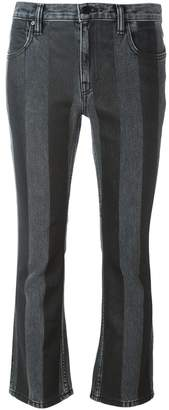 Alexander Wang striped flared jeans