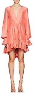 Azeeza Women's Mini Thistle Silk Shantung Dress-Pink