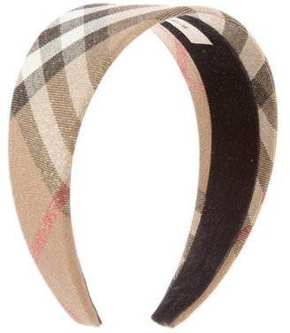Burberry Metallic Nova Check Headband