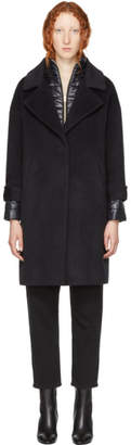 Herno Black Oversized Layered Coat