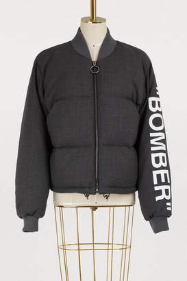 Off-White Off White Wool bomber jacket