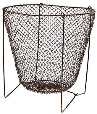 One Kings Lane Vintage French Collapsable Wire Pantry Basket - THE QUEENS LANDING