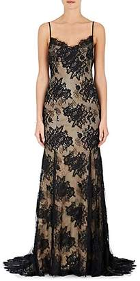Monique Lhuillier WOMEN'S LACE SLEEVELESS GOWN - NUDEFLESH SIZE 6