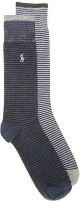 Polo Ralph Lauren Striped Crew Socks - 2 Pack - Men's