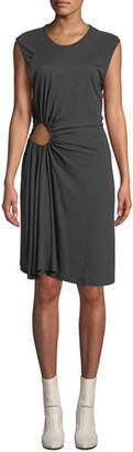 A.L.C. Hartwell Sleeveless Side-Cutout Ruched Dress