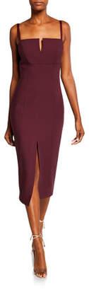 Cinq à Sept Saoirse Split-Front Square-Neck Cocktail Dress