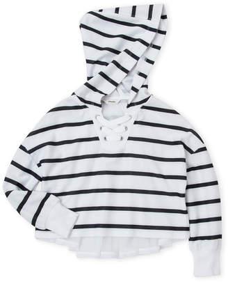 Maddie (Girls 7-16) Mesh Back Stripe Hoodie