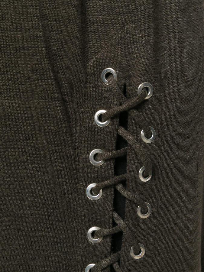 IRO lace-up detail dress