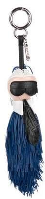 Fendi Fringed Leather Mini Karlito Bag Charm