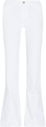J Brand - High-rise Flared Jeans - White $200 thestylecure.com