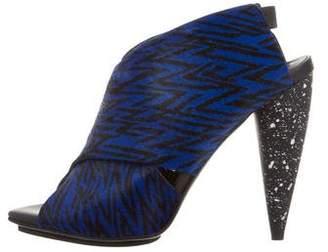 Proenza Schouler Ponyhair Crossover Sandals