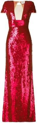 Elisabetta Franchi sequin embroidered evening dress