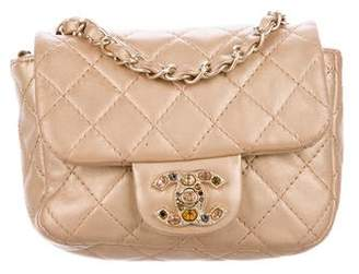 Chanel Embellished Square Classic Flap Bag