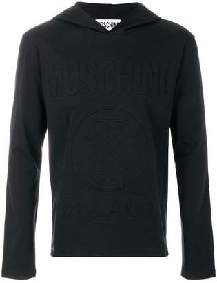Moschino embossed double question mark hoodie