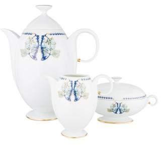 Lalique 3-Piece Limoges Porcelain Mûres Coffee Set