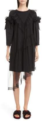 Simone Rocha Tulle Ruffle Shift Dress