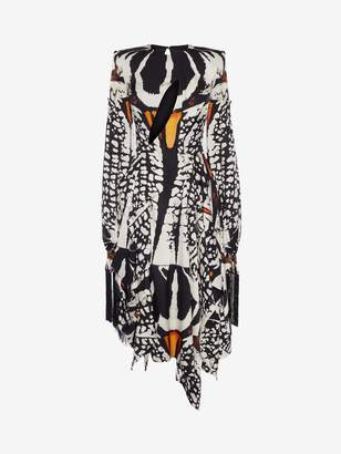 Alexander McQueen Beetle Print Midi Dress