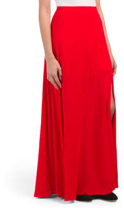 Juniors Maxi Skirt With Extreme Slit