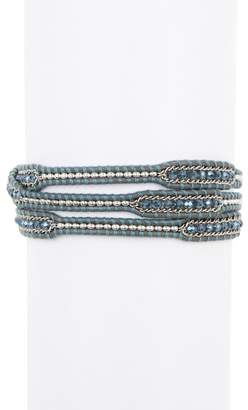 Chan Luu Allure Blue Beaded Wrap Bracelet