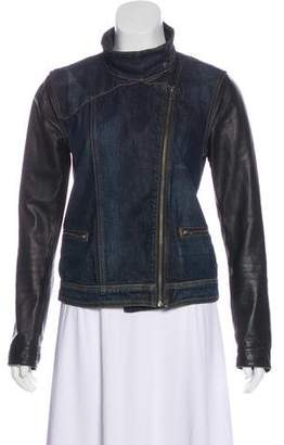 Rag & Bone Denim Leather-Accented Jacket