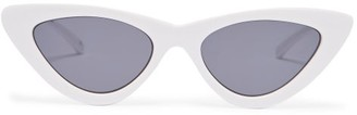 Le Specs X Adam Selman The Last Lolita Cat Eye Sunglasses - Womens - White Black