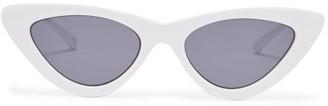 Le Specs - X Adam Selman The Last Lolita Cat Eye Sunglasses - Womens - White Black